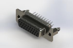 638-026-330-266 - Vertical High Density D-Sub Connector