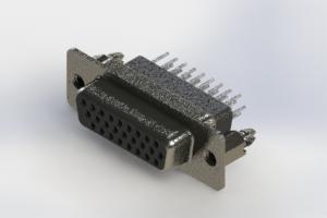 638-026-331-056 - Vertical High Density D-Sub Connector