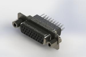 638-026-331-073 - Vertical High Density D-Sub Connector