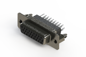 638-026-331-076 - Vertical High Density D-Sub Connector