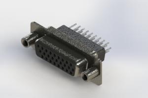 638-026-331-078 - Vertical High Density D-Sub Connector