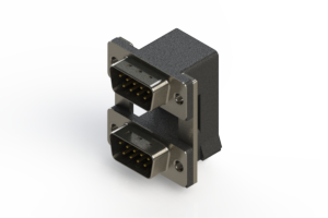 661-009-364-00C - Right-angle Dual Port D-Sub Connector