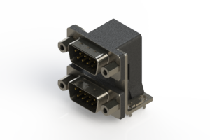 661-009-364-036 - Right-angle Dual Port D-Sub Connector