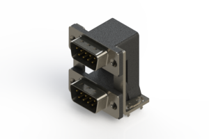 661-009-364-038 - Right-angle Dual Port D-Sub Connector