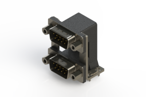 661-009-364-039 - Right-angle Dual Port D-Sub Connector