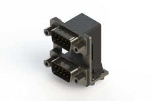 661-009-364-049 - Right-angle Dual Port D-Sub Connector