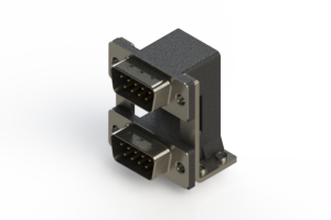 661-009-364-050 - Right-angle Dual Port D-Sub Connector