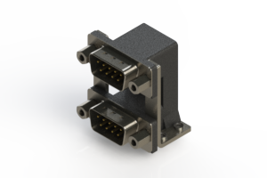 661-009-364-059 - Right-angle Dual Port D-Sub Connector