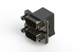 661-009-664-003 - Right-angle Dual Port D-Sub Connector