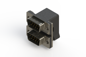 661-009-664-004 - Right-angle Dual Port D-Sub Connector