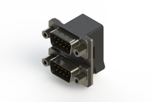 661-009-664-006 - Right-angle Dual Port D-Sub Connector