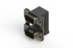 661-009-664-008 - Right-angle Dual Port D-Sub Connector