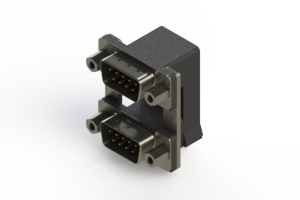 661-009-664-009 - Right-angle Dual Port D-Sub Connector