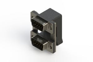 661-009-664-00C - Right-angle Dual Port D-Sub Connector