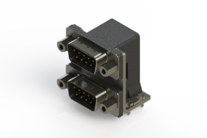 661-009-664-036 - Right-angle Dual Port D-Sub Connector