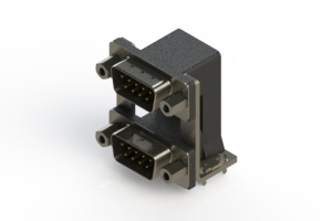 661-009-664-039 - Right-angle Dual Port D-Sub Connector