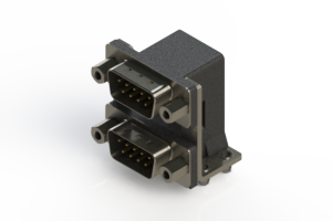 661-009-664-046 - Right-angle Dual Port D-Sub Connector