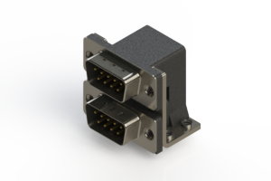 661-009-664-051 - Right-angle Dual Port D-Sub Connector