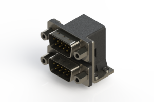 661-009-664-053 - Right-angle Dual Port D-Sub Connector