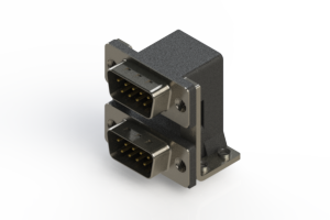 661-009-664-055 - Right-angle Dual Port D-Sub Connector