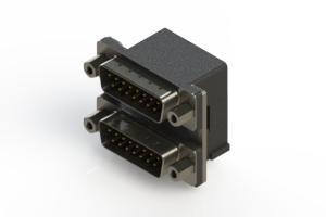 661-015-264-006 - Right-angle Dual Port D-Sub Connector