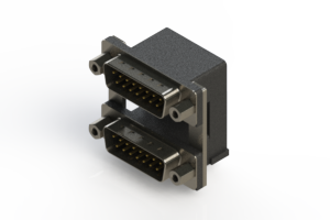 661-015-264-009 - Right-angle Dual Port D-Sub Connector