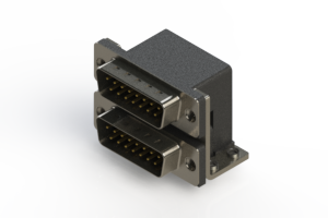 661-015-264-051 - Right-angle Dual Port D-Sub Connector