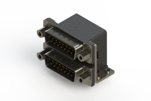 661-015-264-053 - Right-angle Dual Port D-Sub Connector