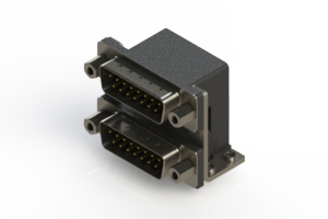 661-015-264-056 - Right-angle Dual Port D-Sub Connector