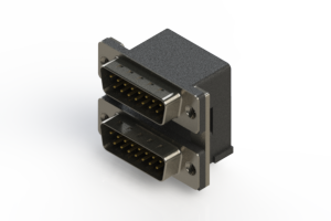 661-015-364-005 - Right-angle Dual Port D-Sub Connector