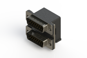 661-015-364-007 - Right-angle Dual Port D-Sub Connector