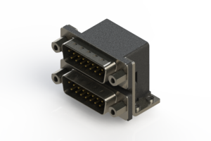 661-015-364-053 - Right-angle Dual Port D-Sub Connector
