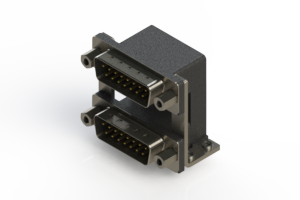 661-015-364-059 - Right-angle Dual Port D-Sub Connector