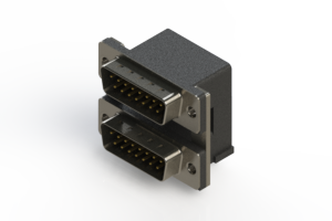 661-015-664-007 - Right-angle Dual Port D-Sub Connector
