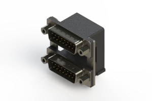 661-015-664-009 - Right-angle Dual Port D-Sub Connector