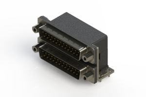 661-025-264-033 - Right-angle Dual Port D-Sub Connector