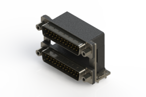 661-025-264-039 - Right-angle Dual Port D-Sub Connector