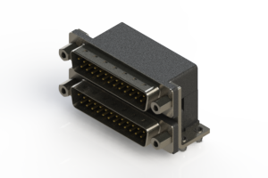 661-025-264-043 - Right-angle Dual Port D-Sub Connector