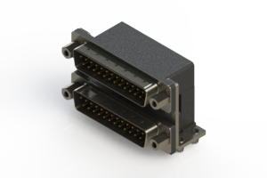 661-025-264-046 - Right-angle Dual Port D-Sub Connector