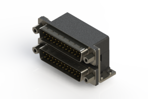 661-025-264-053 - Right-angle Dual Port D-Sub Connector
