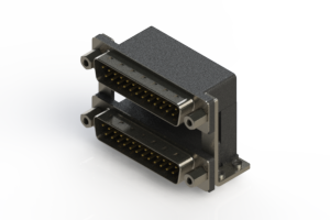 661-025-264-059 - Right-angle Dual Port D-Sub Connector