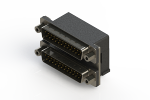 661-025-364-006 - Right-angle Dual Port D-Sub Connector