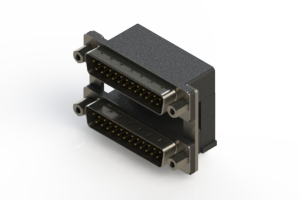 661-025-364-009 - Right-angle Dual Port D-Sub Connector