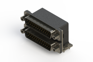 661-025-364-033 - Right-angle Dual Port D-Sub Connector