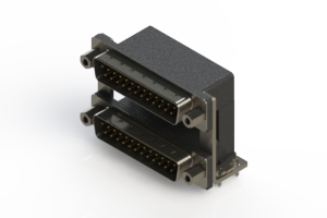 661-025-364-039 - Right-angle Dual Port D-Sub Connector