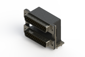 661-025-364-03A - Right-angle Dual Port D-Sub Connector