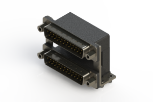 661-025-364-049 - Right-angle Dual Port D-Sub Connector