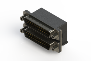 661-025-664-003 - Right-angle Dual Port D-Sub Connector