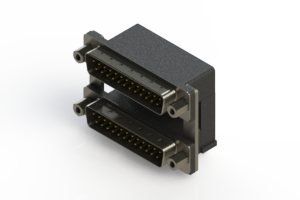 661-025-664-009 - Right-angle Dual Port D-Sub Connector