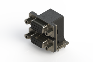 662-009-264-033 - Right-angle Dual Port D-Sub Connector